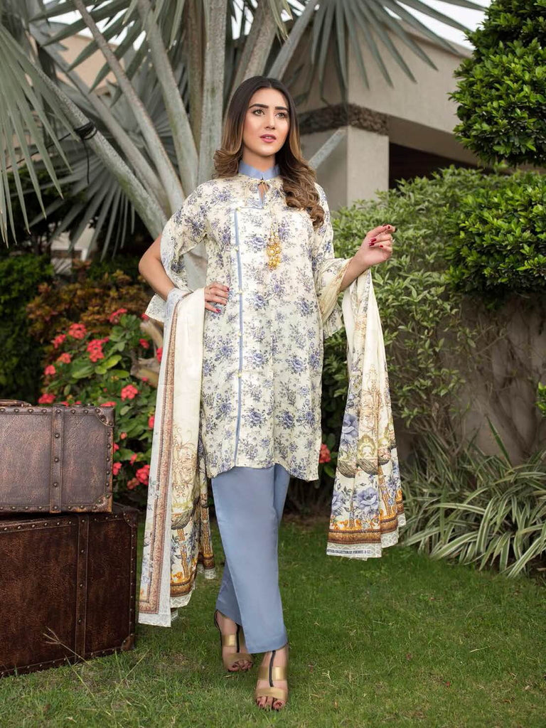 Firdous Digital Mother Lawn Summer 2019 Unstitched 3 Piece Suit 572B - FaisalFabrics.pk