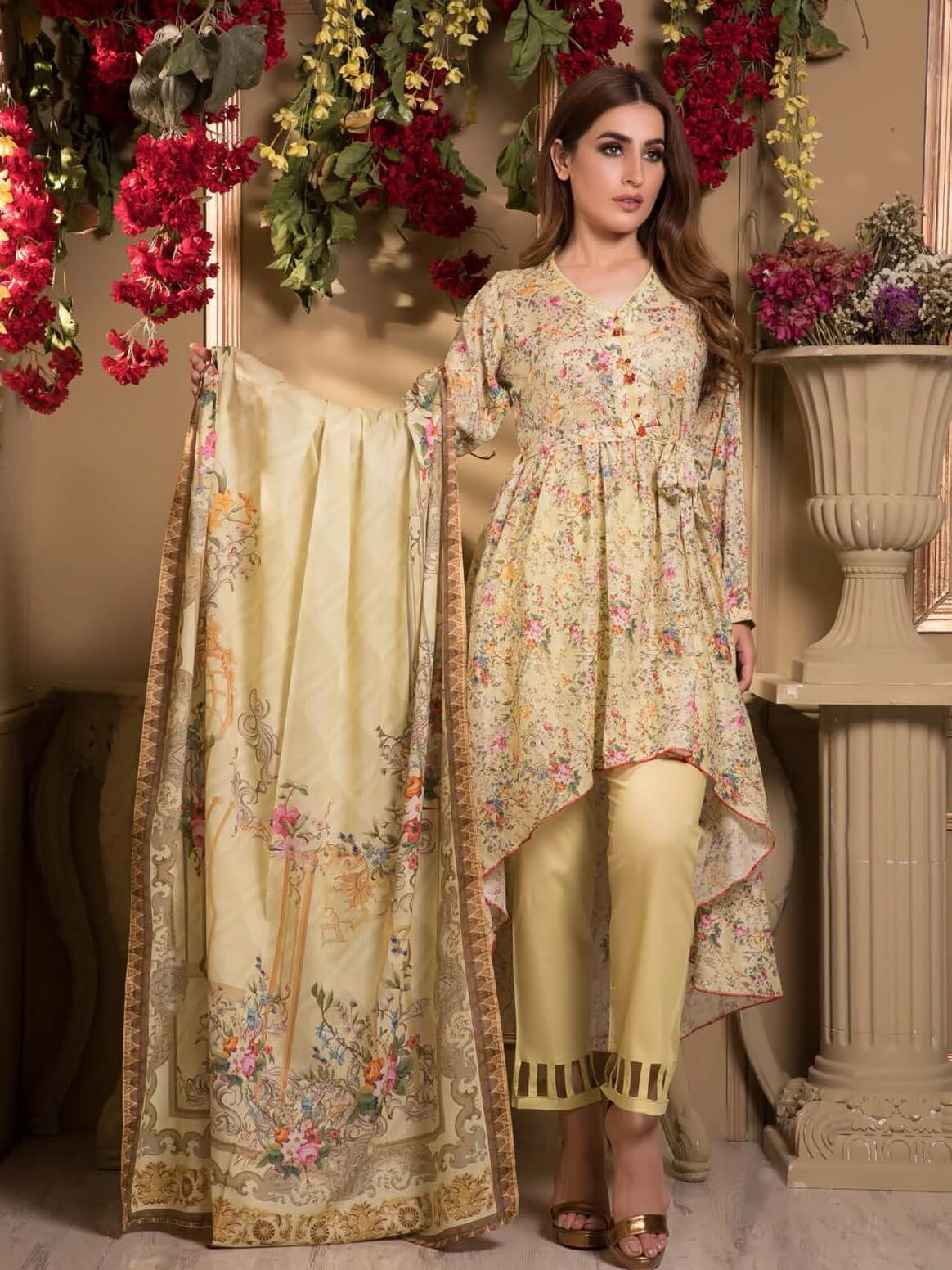 Firdous Digital Mother Lawn Summer 2019 Unstitched 3 Piece Suit 587A - FaisalFabrics.pk