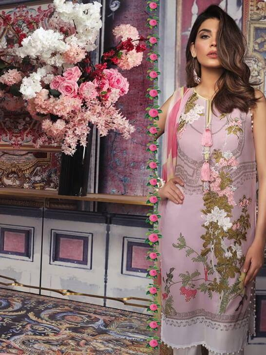 Sana Safinaz Muzlin Luxury Lawn Vol-2 Unstitched 3PC Suit SS-19-8A - FaisalFabrics.pk