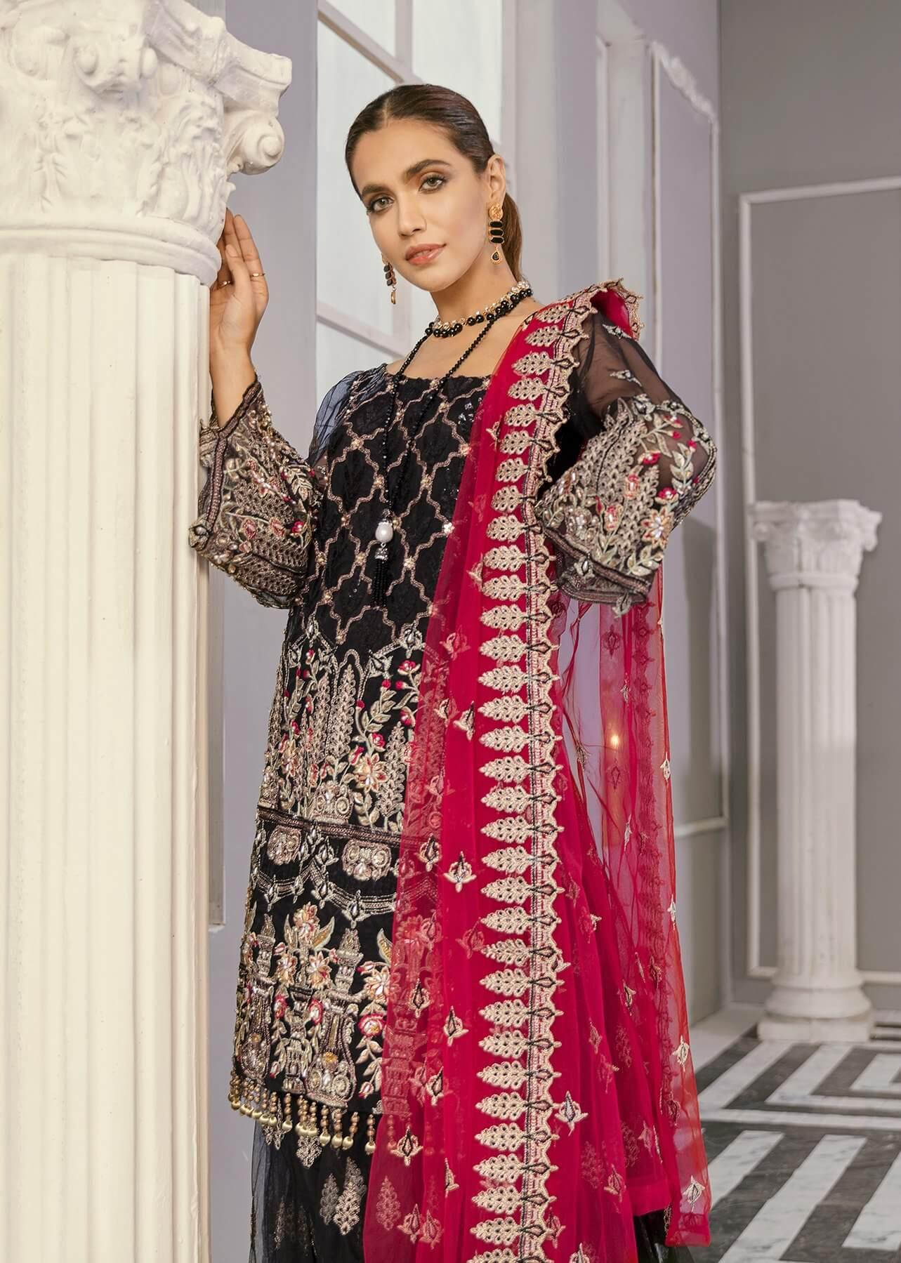 Akbar Aslam Libas e Khas Wedding Collection 3pc Suit AAWC-1342 BACCARA