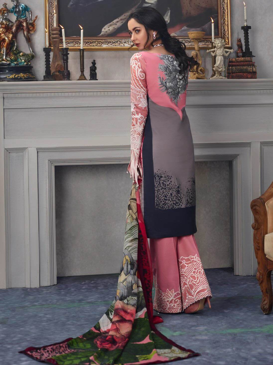 Asifa Nabeel Embroidered Lawn 3 Piece Suit AN19 15R Spring Summer 2019 - FaisalFabrics.pk