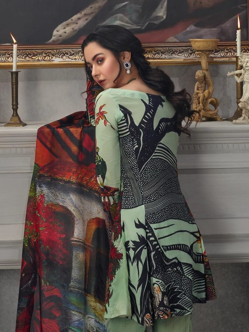 Asifa Nabeel Embroidered Lawn 3 Piece Suit AN19 1Q Spring Summer 2019 - FaisalFabrics.pk