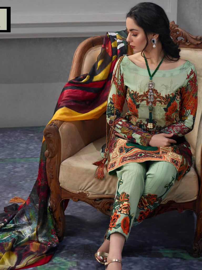 1a29a333d8 Asifa Nabeel Embroidered Lawn 3 Piece Suit AN19 1Q Spring Summer ...