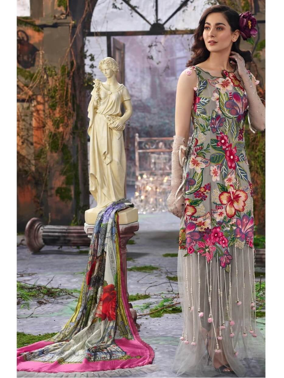 Asifa Nabeel Embroidered Lawn 3 Piece Suit AN19 6Y Spring Summer 2019 - FaisalFabrics.pk