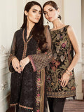 Baroque Chantelle Embroidered Chiffon 3 Piece Suit BQC-03 BLACK LALIQUE Black - FaisalFabrics.pk