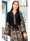 BAROQUE Luxury Swiss Lawn Embroidered 3Pc Suit Summer 2019 D-02 Coal - FaisalFabrics.pk