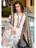 BAROQUE Luxury Lawn Embroidered 3Pc Suit Summer 2019 BQ 04 White Dahlia - FaisalFabrics.pk