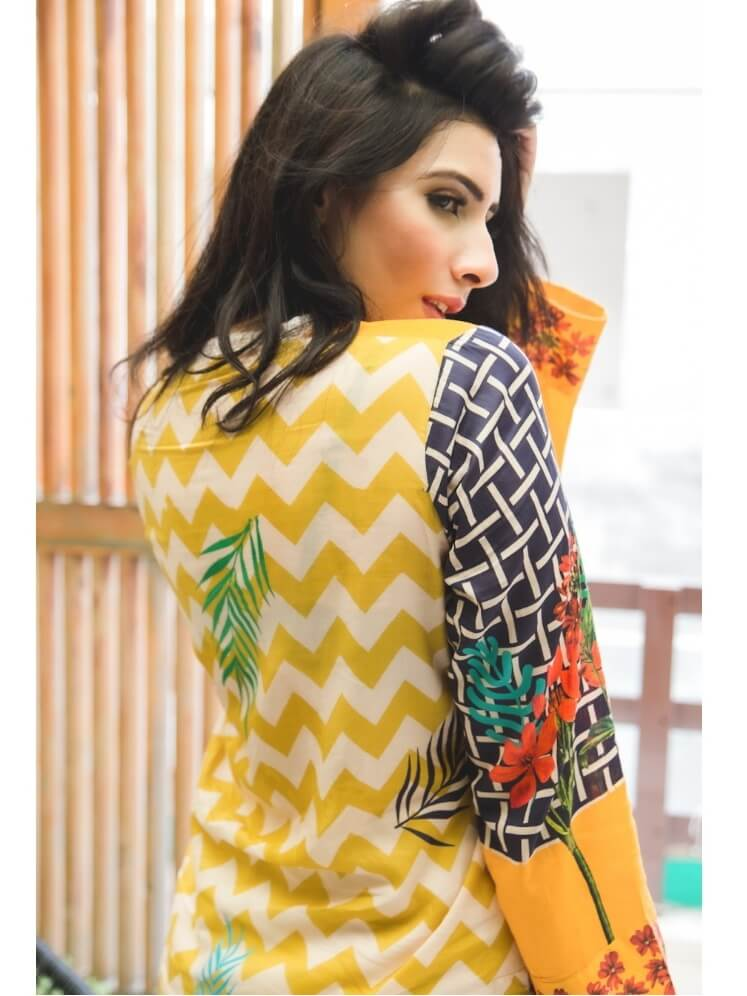 Beloved Premium Printed Lawn Shirt for Summers B-01 Daylily - FaisalFabrics.pk