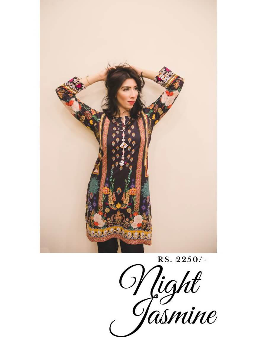 Beloved Premium Printed Lawn Shirt for Summers B-04 Night Jasmine - FaisalFabrics.pk