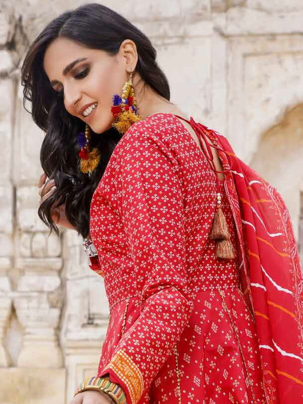GulAhmed Chunri Lawn Unstitched Printed 3 PCS Suit CL-1201-B
