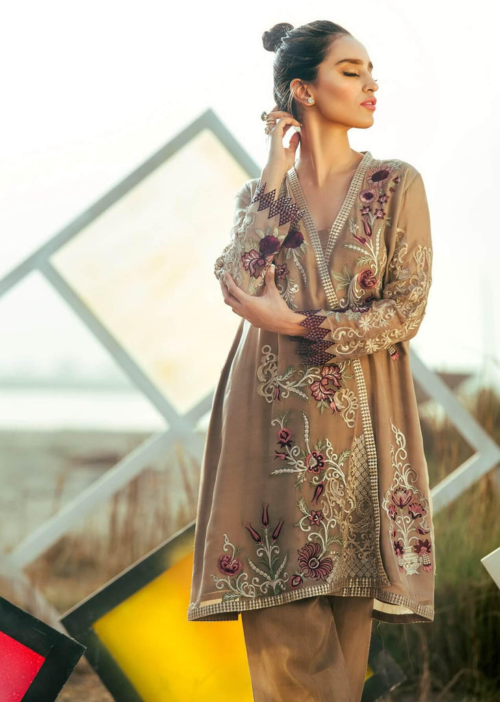 COIR Luxury Embroidered Chiffon EID Collection 2018 PLUM ROSE-09
