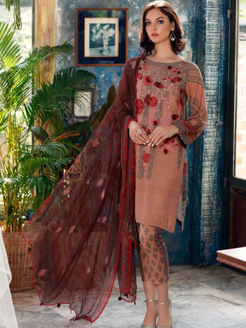 CHARIZMA Embroidered Karandi 2020 Unstitched 3 Piece Suit KR-04