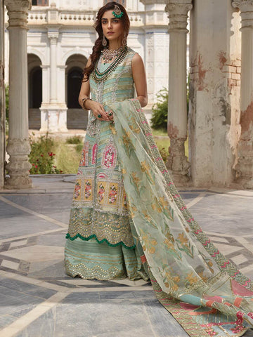 CRIMSON X Saira Shakira Luxury Collection 19 D-1A CHATA PATTI MINT - FaisalFabrics.pk