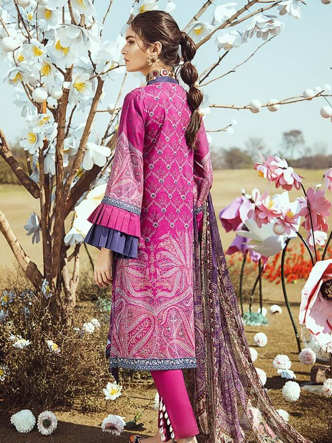 Cross Stitch KOH KAAF Premium Lawn 2020 Embroidered 3PC Suit GOHAR-E-NEELUM - FaisalFabrics.pk