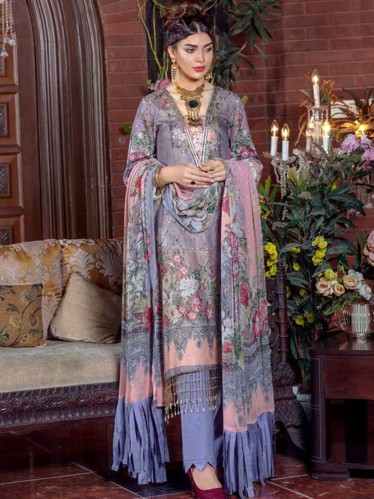 Irma Festive Eid Collection 2019 Embroidered Lawn 3PC Suit D 1525