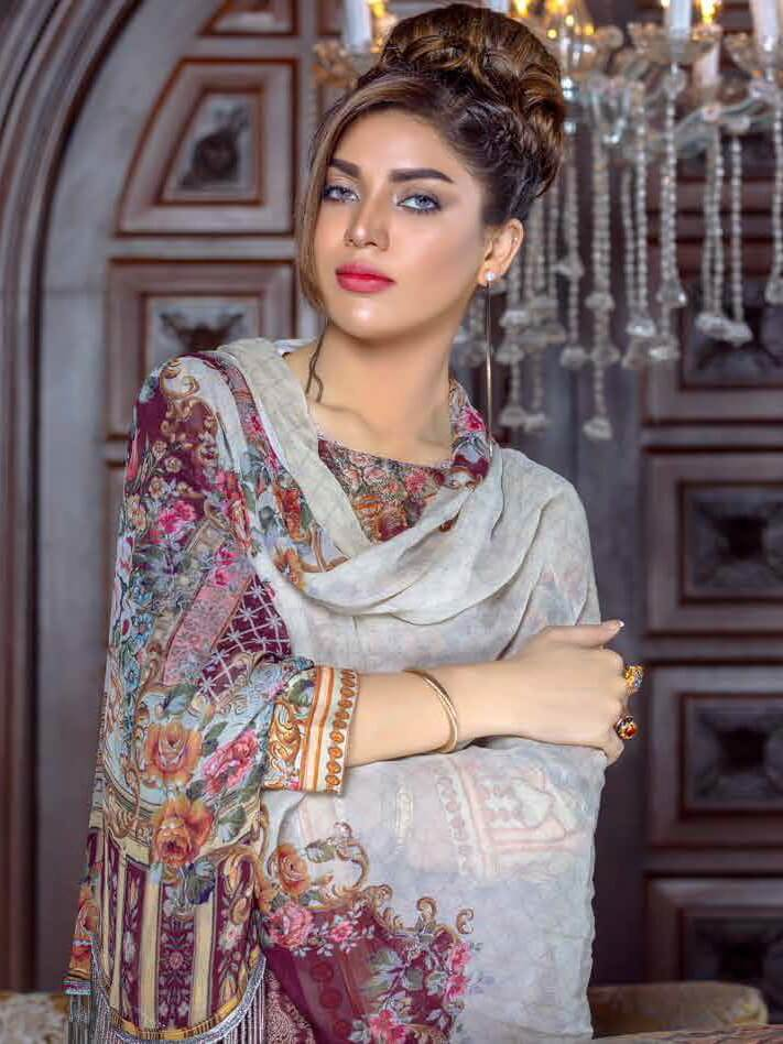 Irma Festive Eid Collection 2019 Embroidered Lawn 3PC Suit D 1529