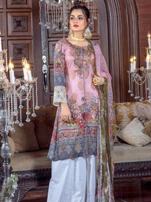Rashid Textile - Irma Festive Eid Collection 2019 Embroidered Lawn 3PC Suit D 1532 - faisalfabrics-pk