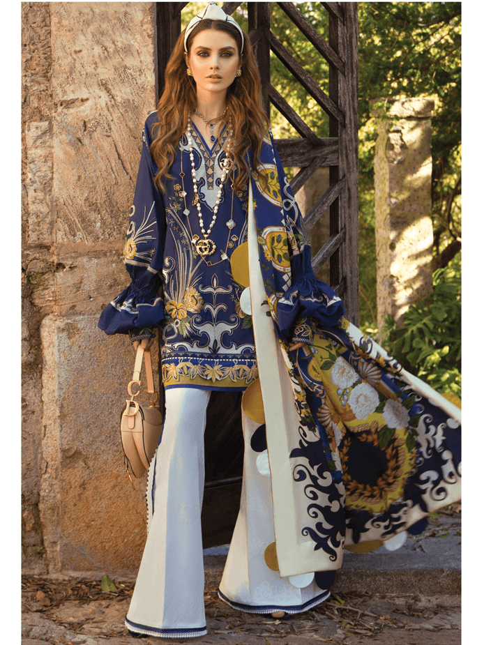 ELAN Luxury Lawn 2019 Untitched Embroidered 3PC Suit ANORANZA EL 04A - FaisalFabrics.pk