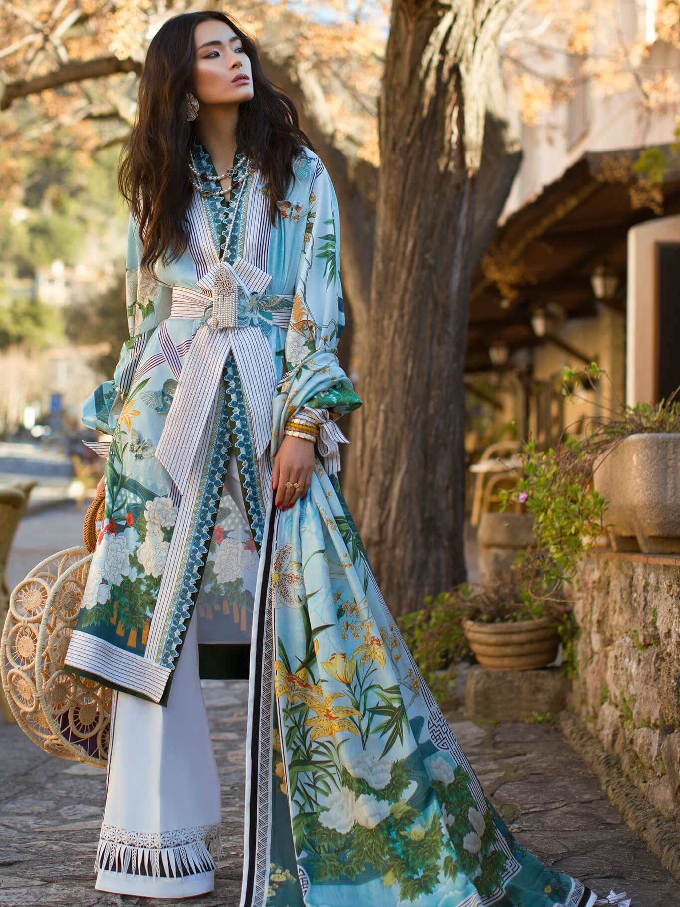 ELAN Luxury Lawn 2019 Untitched Embroidered 3PC Suit SERENIDAD EL 05A - FaisalFabrics.pk