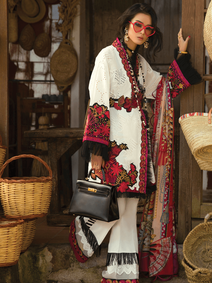 d777a9bc8d ELAN Luxury Lawn 2019 Untitched Embroidered 3PC Suit MARIPOSA EL 07B ...