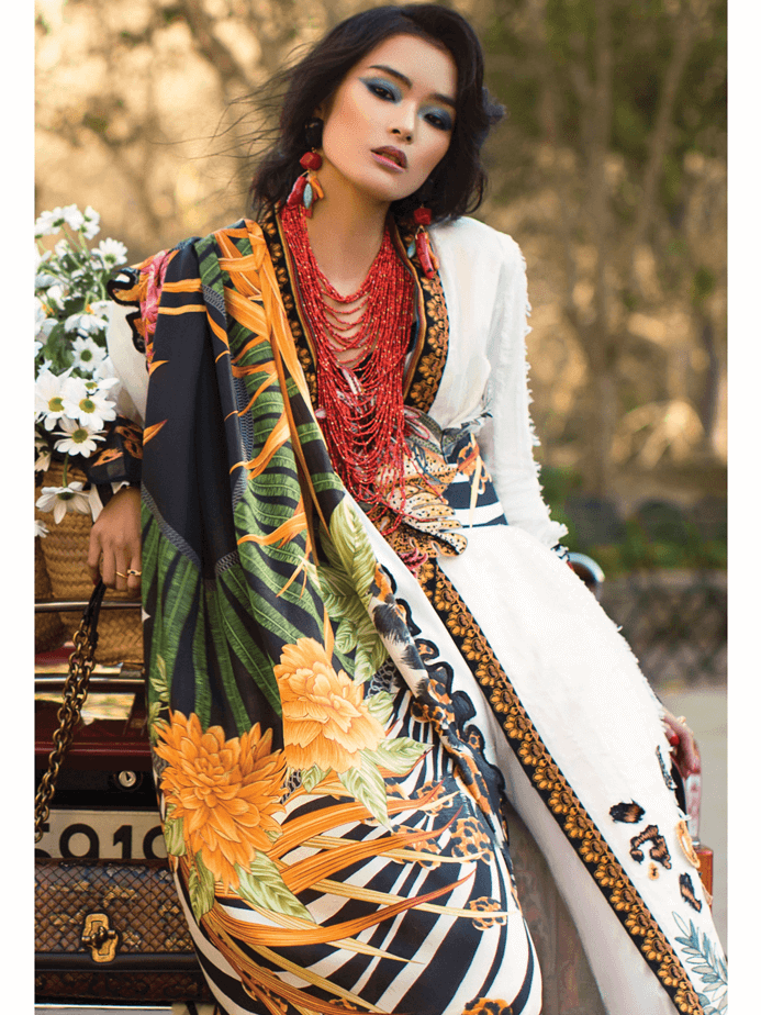 ELAN Luxury Lawn 2019 Untitched Embroidered 3PC Suit SELVA EL 08A - FaisalFabrics.pk