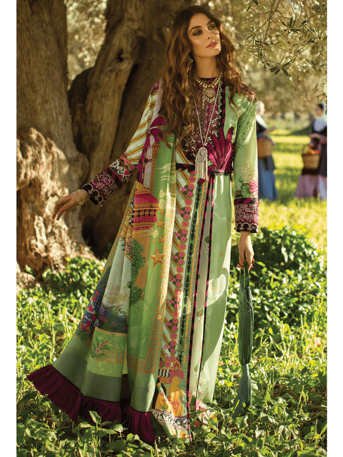 ELAN Luxury Lawn 2019 Untitched Embroidered 3PC Suit VIVIR EL 09A - FaisalFabrics.pk