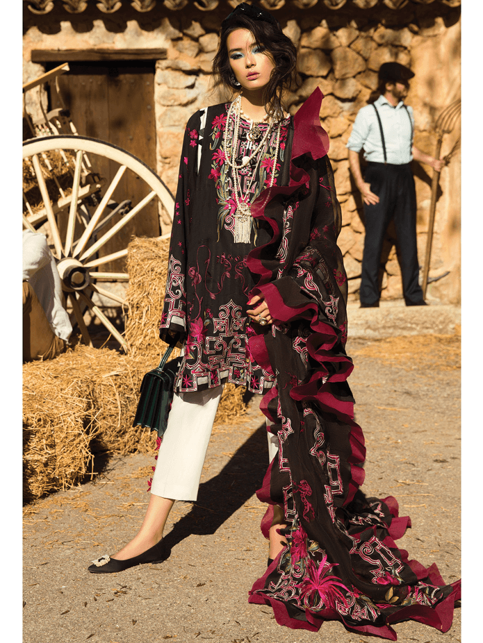 ELAN Luxury Lawn 2019 Untitched Embroidered 3PC Suit DIAFANO EL 14A - FaisalFabrics.pk