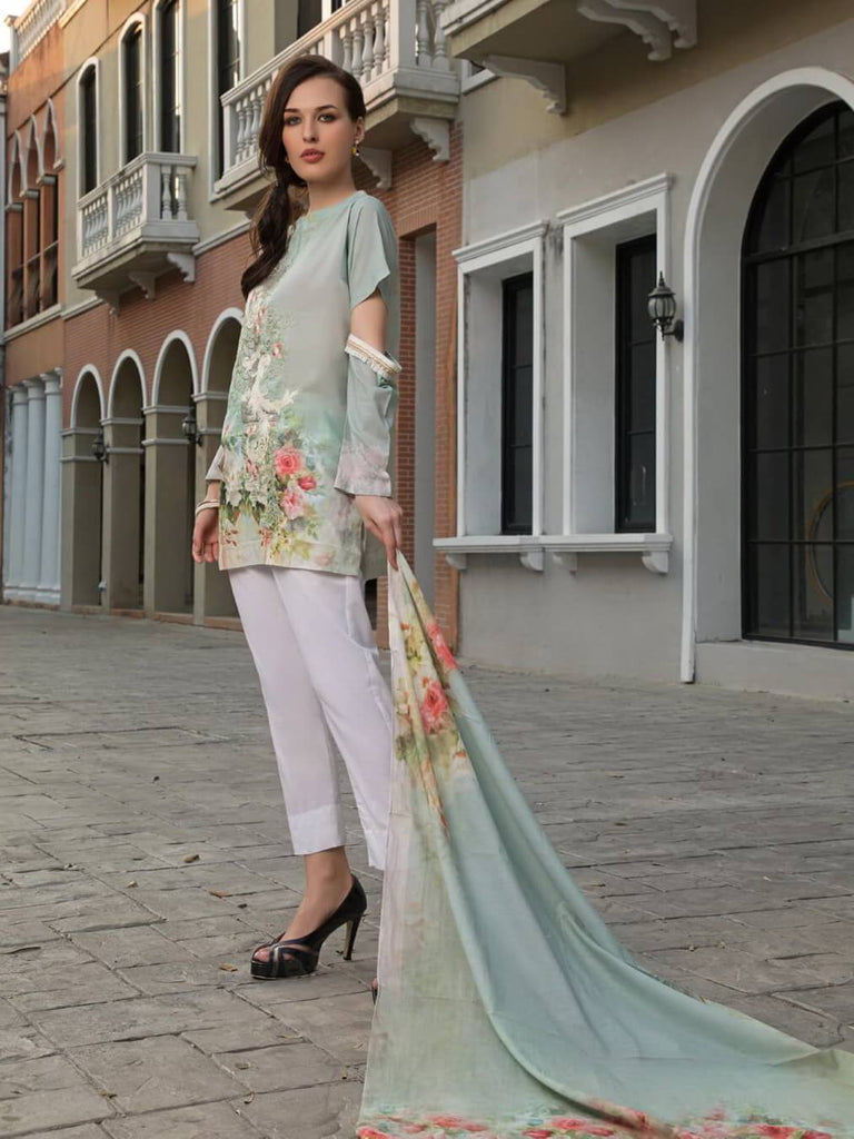 KHAS Designer Lawn Collection 2019 Unstitched 2PC Suit RKL-13024 - FaisalFabrics.pk