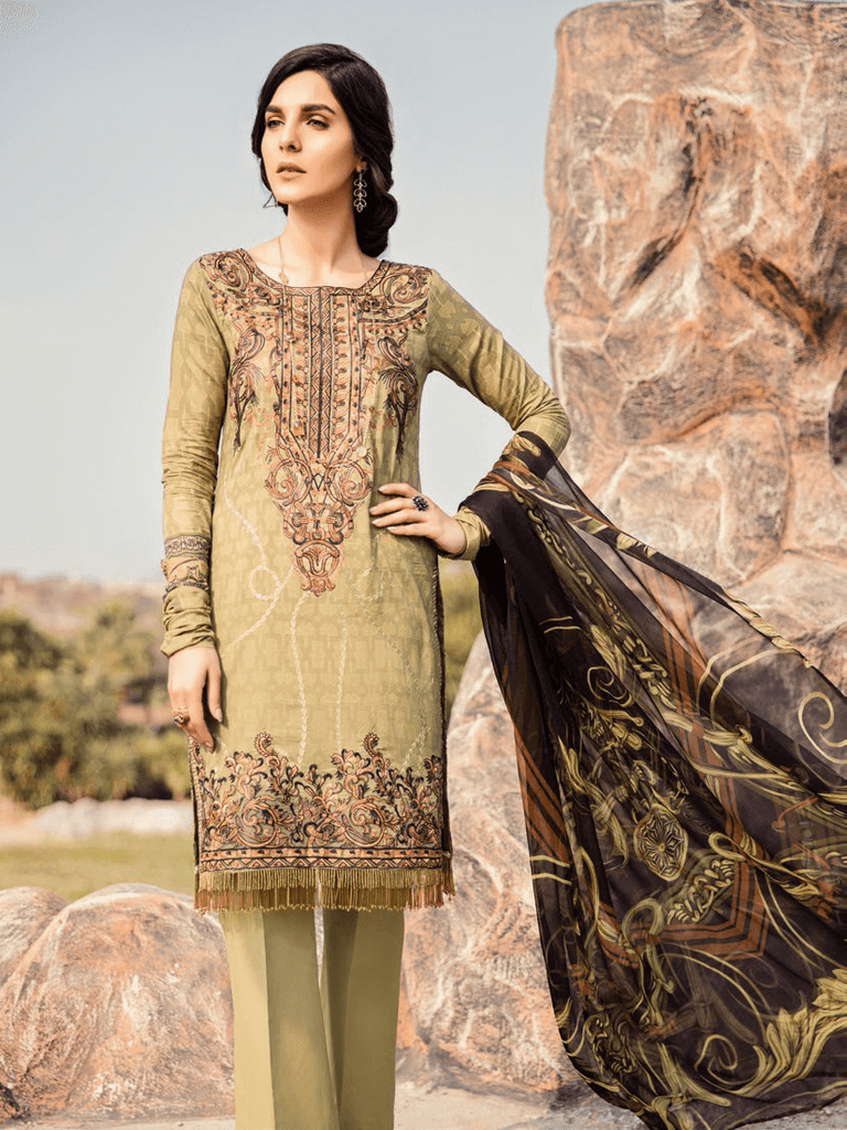 323307af05 Iznik Chinon Embroidered Lawn 2019 Unstitched 3PC Suit Iz 02 Earthy ...
