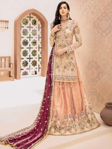 EMAAN ADEEL Elegant Bridal Collection Vol-3 Embroidered 3PC Suit EA-301