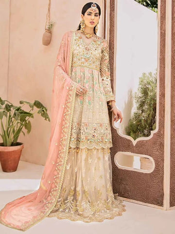 EMAAN ADEEL Elegant Bridal Collection Vol-3 Embroidered 3PC Suit EA-303