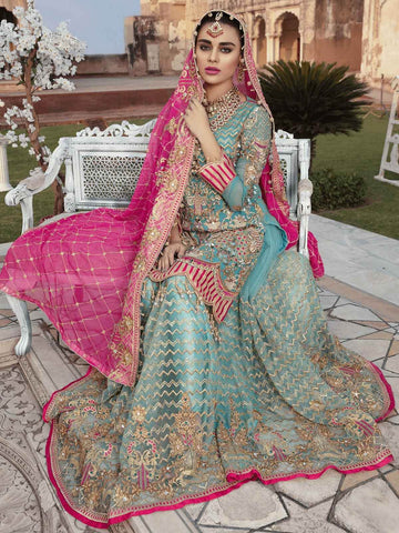 Emaan Adeel Bridal Collection Chiffon Unstitched 3 Piece Suit EA-206