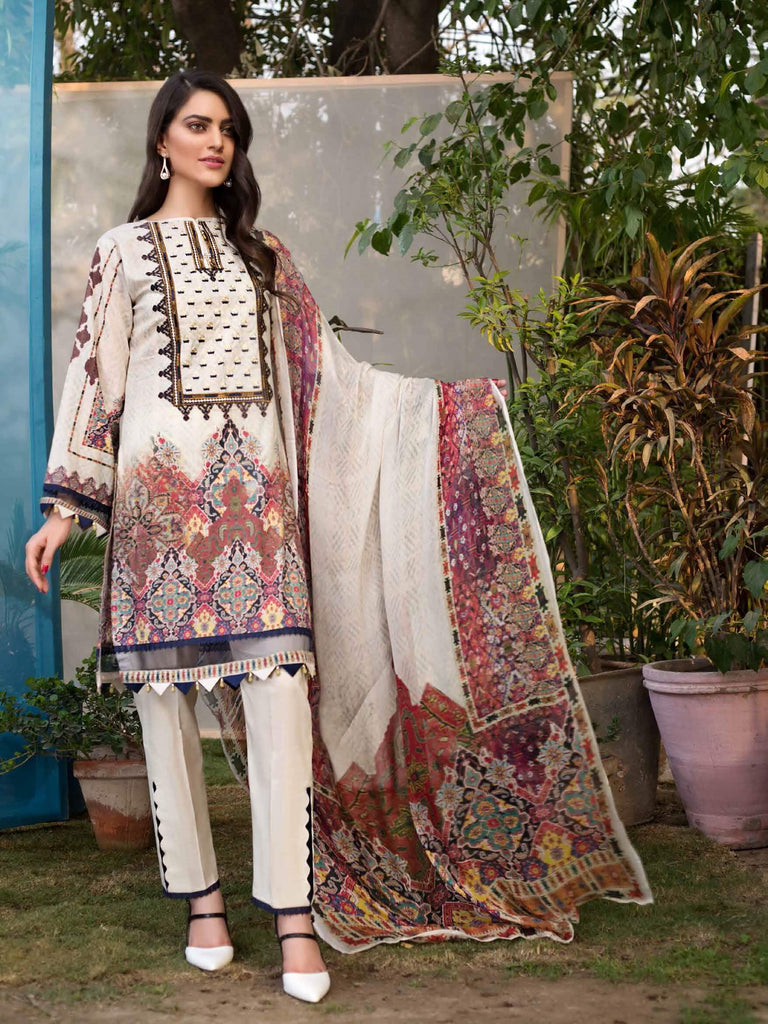 903bcd0845 Mohagni Florence Embroidered Lawn Eid Collection 2019 3PC Suit FN 08 ...