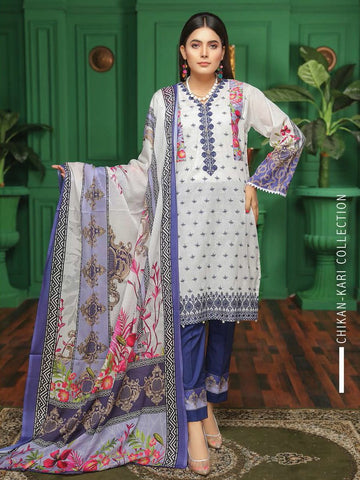 Fabura Embroidered Chikankari Lawn Collection 2020 3PC Suit FAB-02