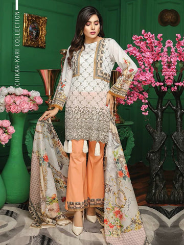 Fabura Embroidered Chikankari Lawn Collection 2020 3PC Suit FAB-03