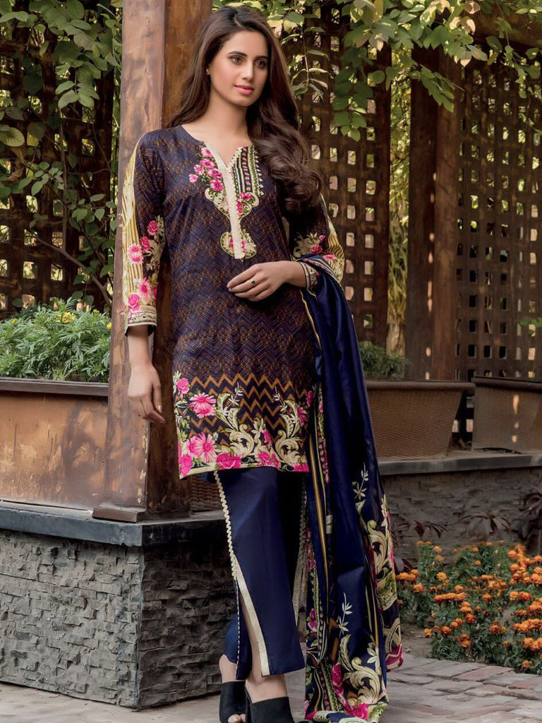0bfb576244 Firdous Lawn Collection 2019 Unstitched 3Pc Printed Suit A 218 ...