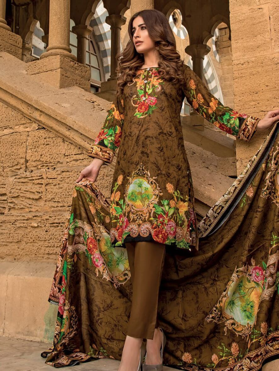 Firdous Lawn Collection 2019 Unstitched 3Pc Printed Suit C 221 - FaisalFabrics.pk