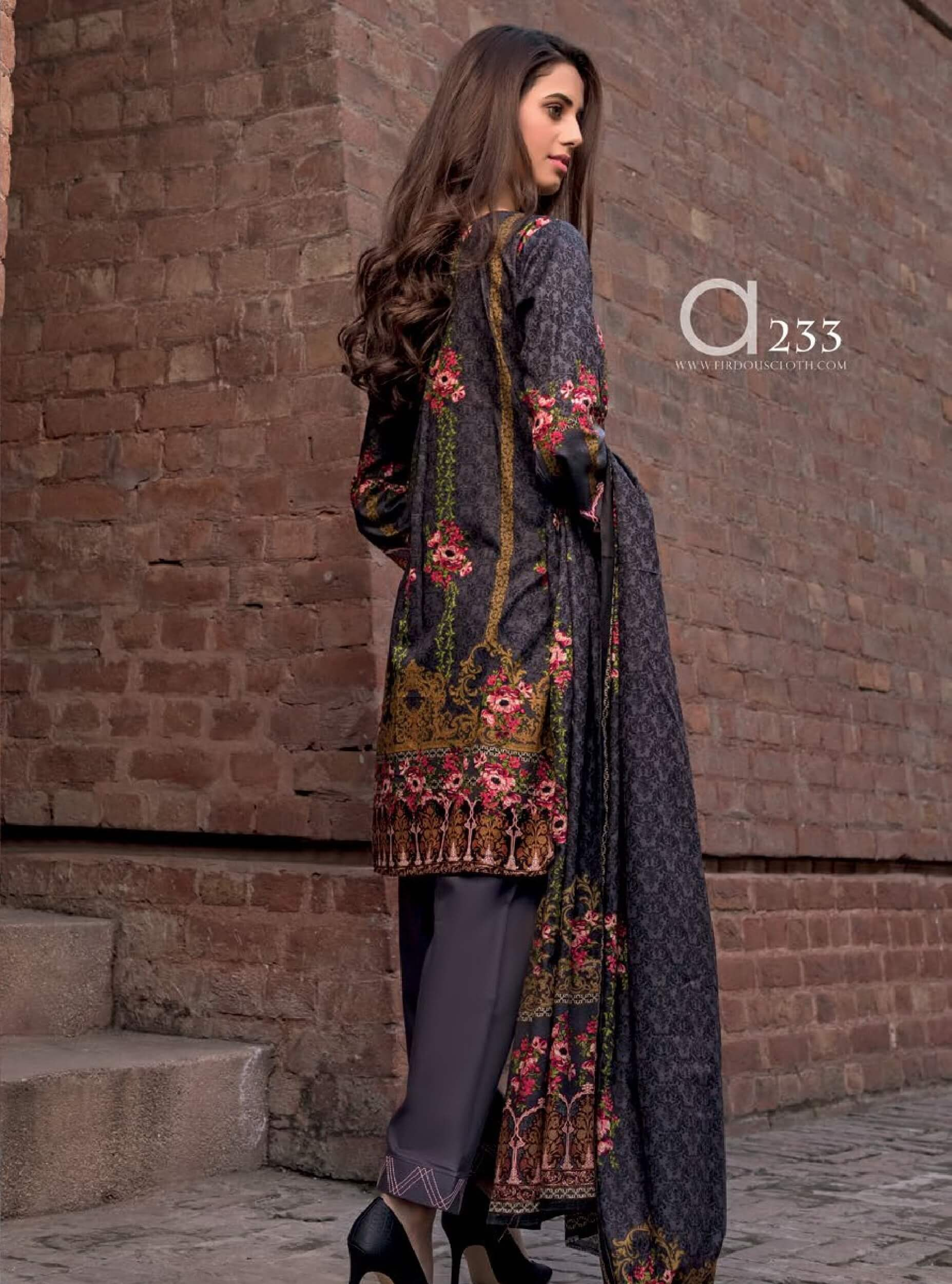 Firdous Lawn Collection 2019 Unstitched 3Pc Printed Suit A 233 - FaisalFabrics.pk