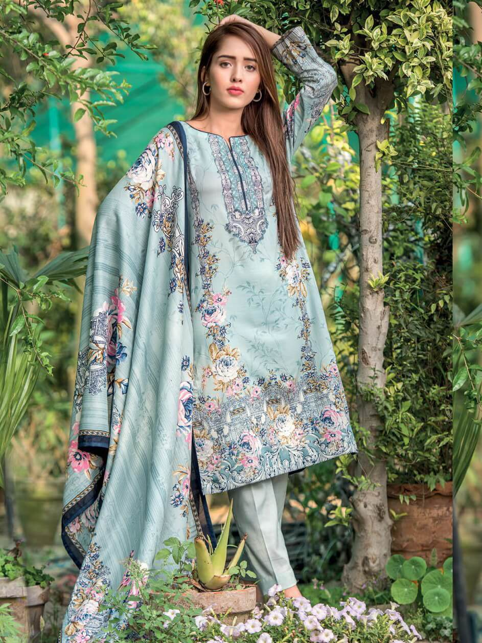Firdous Lawn Collection 2019 Unstitched 3Pc Printed Suit C 241 - FaisalFabrics.pk