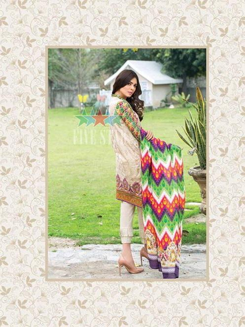 Five Star Devin Printed Lawn Summer 2019 Unstitched 3PC Suit D 010 A - faisalfabrics-pk