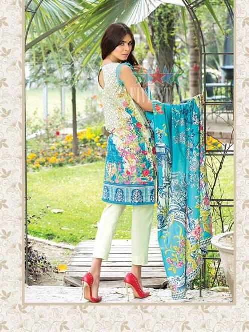 Five Star Devin Printed Lawn Summer 2019 Unstitched 3PC Suit D 012 A - FaisalFabrics.pk