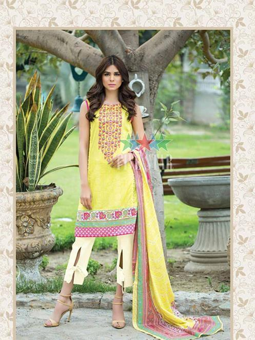 Five Star Devin Printed Lawn Summer 2019 Unstitched 3PC Suit D 014 A - FaisalFabrics.pk