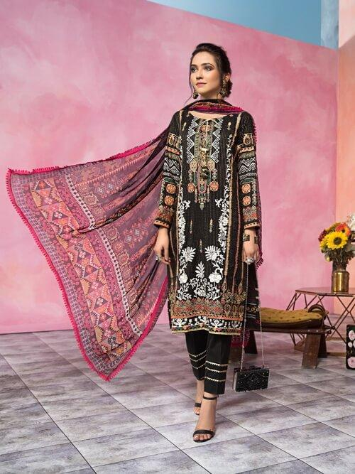 Florent Luxury Lawn Collection 2020 Unstitched 3PC Suit FL-2B - FaisalFabrics.pk