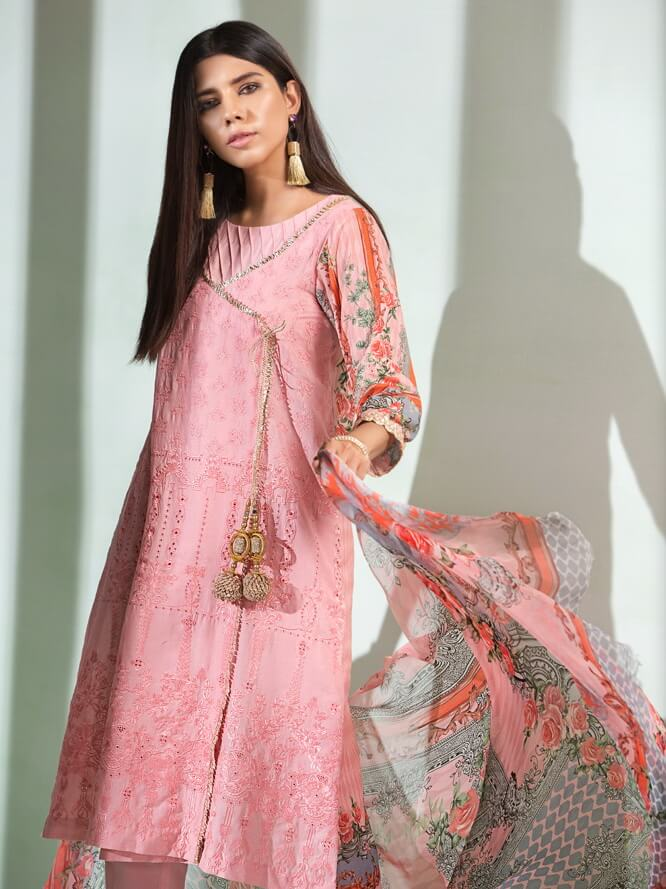 Florent Luxury Lawn Collection 2020 Unstitched 3PC Suit FL-4A - FaisalFabrics.pk