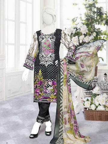 Zoha Premium Embroidered Lawn Collection 2020 3pc Suit GE-1706 A - FaisalFabrics.pk