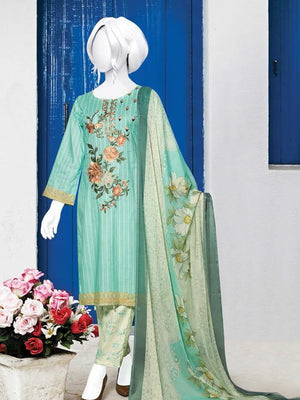 Zoha Premium Embroidered Lawn Collection 2020 3pc Suit GE-1708 - FaisalFabrics.pk