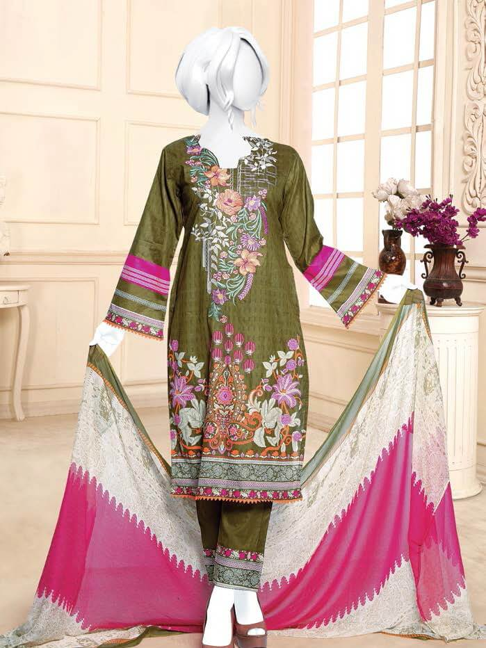 Zoha Premium Embroidered Lawn Collection 2020 3pc Suit GE-1714 - FaisalFabrics.pk