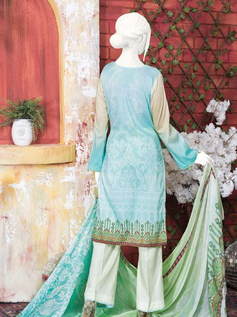 Tooba 3PC Premium Embroidered Lawn Suit Summer Collection GE 1315