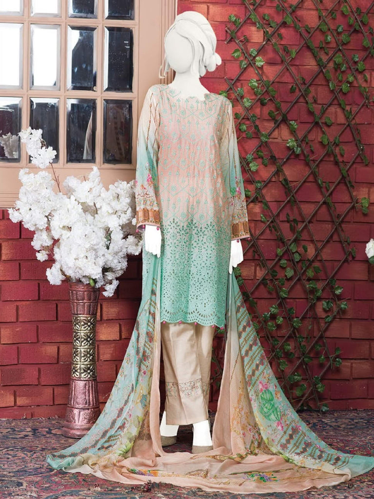 Al-Boutique - Tooba 3PC Premium Embroidered Lawn Suit Summer Collection GE 1316 - faisalfabrics-pk