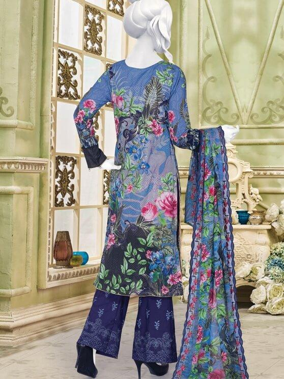 Festive Chikan Kari Lawn 2019 with Embroidered Trouser 3pc Suit GE 739